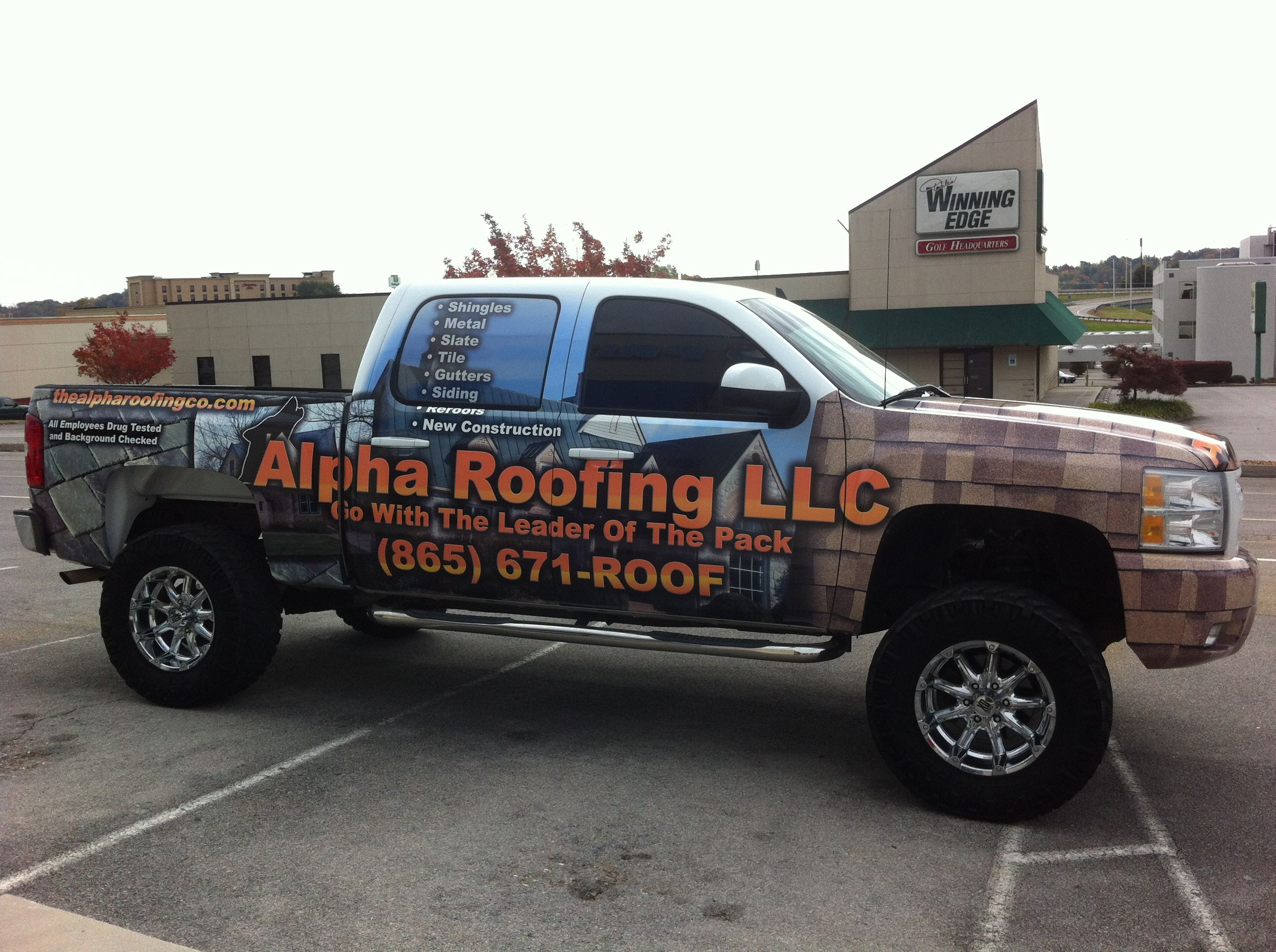 Alpha Roofing Vehicle Wrap 4 Knoxville, TN