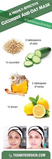 Cucumber and Oat acne face mask