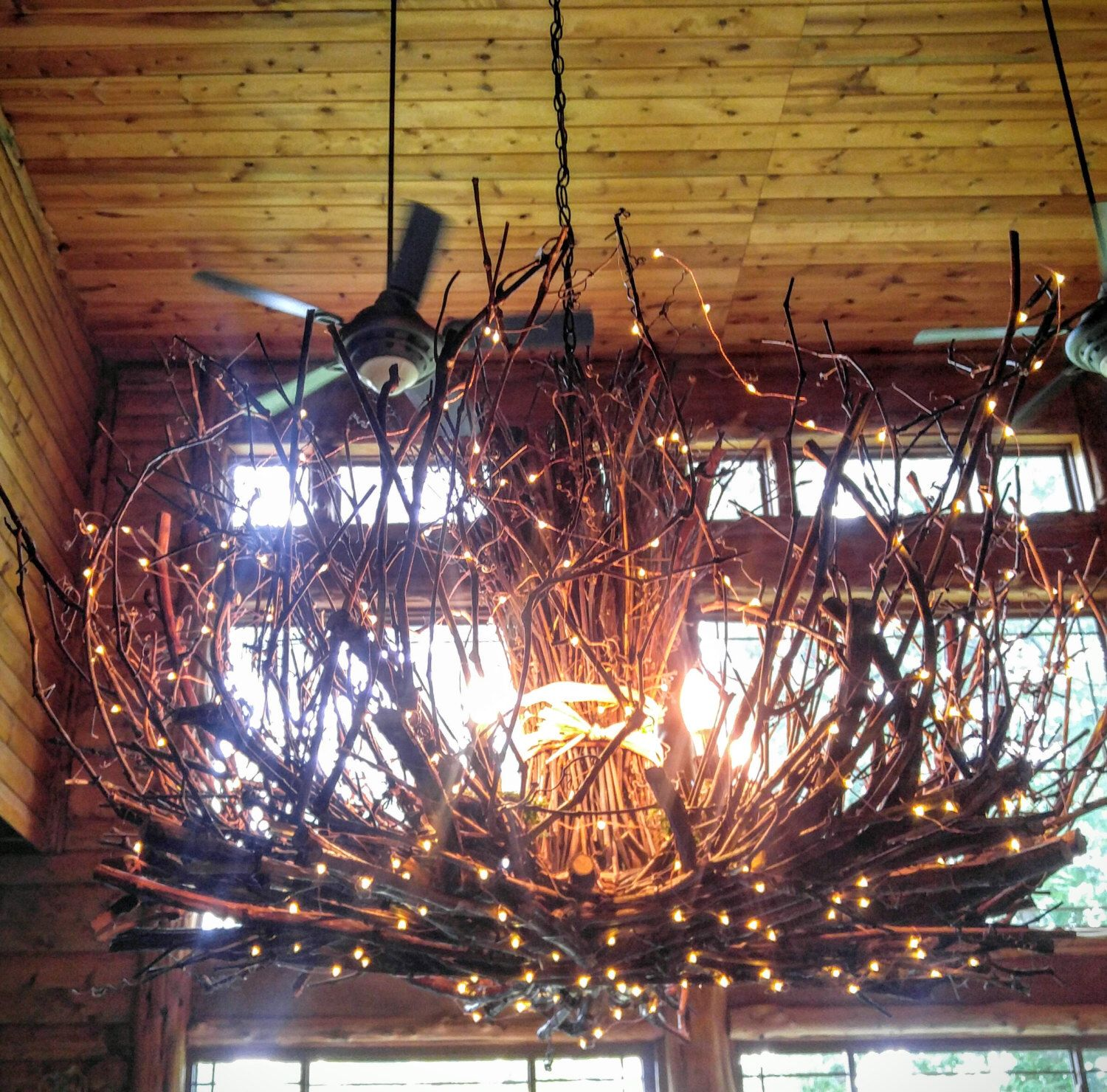 Allegheny 5 Light Rustic Twig Chandelier Grapevine