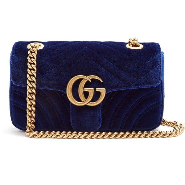 1ed266b14ebe Gucci GG Marmont mini quilted-velvet cross-body bag ( 1