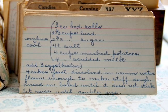 Read this vintage recipe for Ice Box Rolls and the history of the card. & Read this vintage recipe for Ice Box Rolls and the history of the ... Aboutintivar.Com