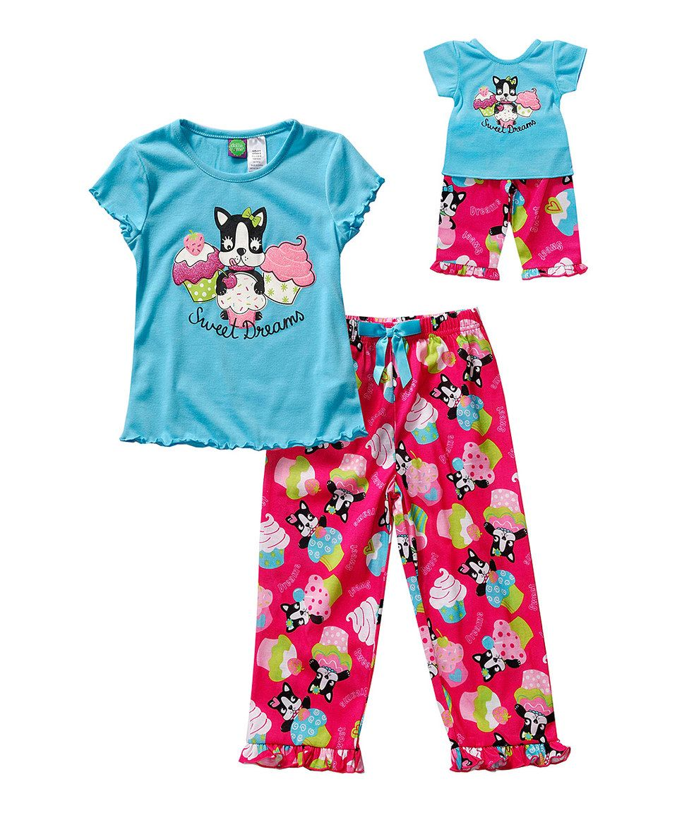 aff4173cfdb3 Another great find on  zulily! Blue  Sweet Dreams  Pajama Set   Doll ...