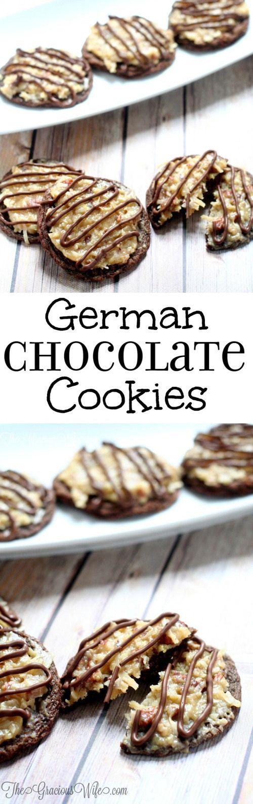 German Chocolate Cake Cookies | Recipe | Chocolate cakes, Cake ...