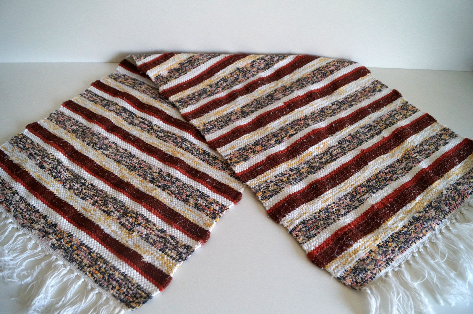 Swedish Rag Rug Striped Woven