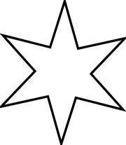 Estrellas de Navidad para colorear | Şablon | Christmas printables