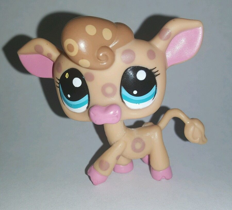 Littlest Pet Shop Brown Spotted Cow Blue Eyes 2307 Preowned Lps Little Pets Littlest Pet Shop Pet Shop