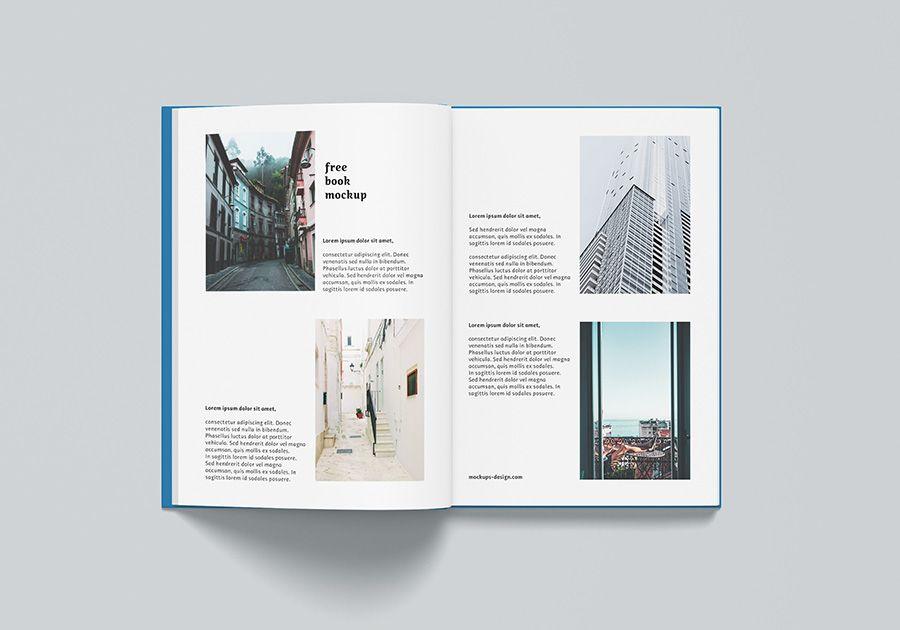 Free A4 Hardcover Book Mockup Mockups Design Free Mockup Mockup Design Hardcover Book