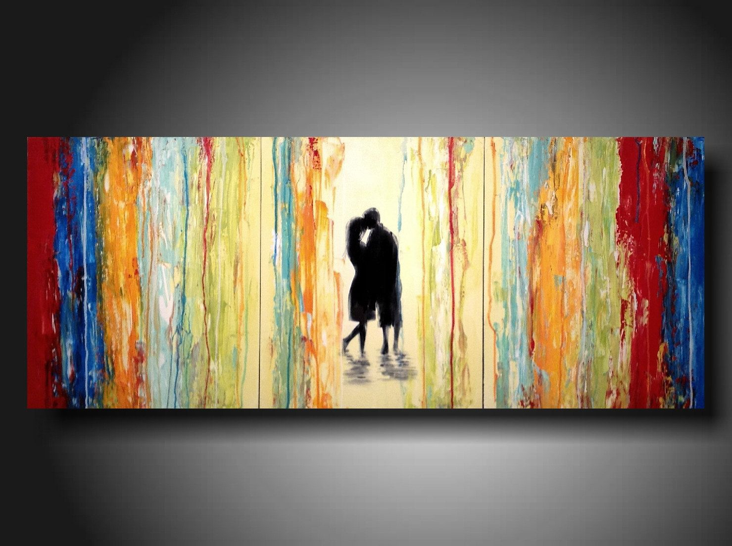 Original Large Abstract painting - 24 X 36 Inches-by Artist ...