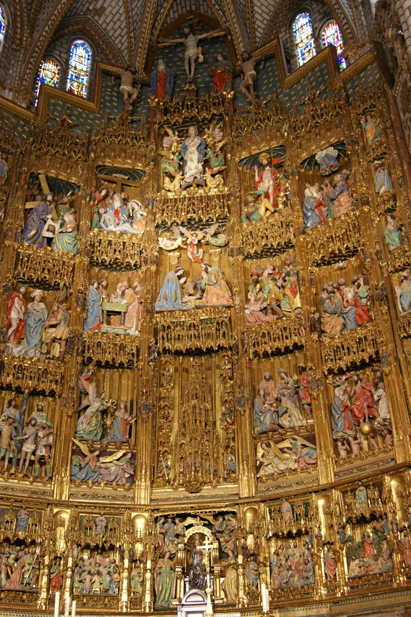 El Retablo Mayor De La Catedral De Toledo Photo City Photo Aerial