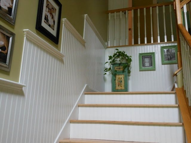 Beadboard In Stairways These Beadboard Walls And