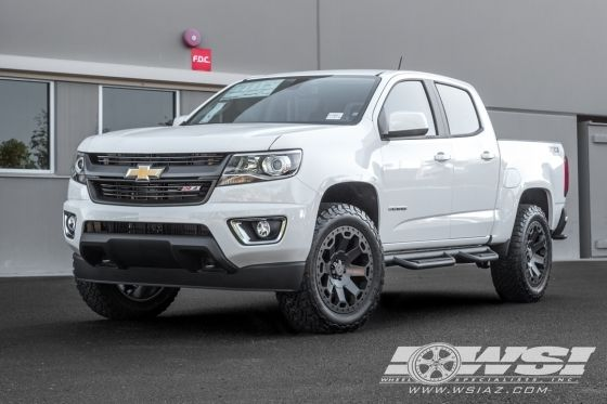 2016 Chevrolet Colorado With 20 Black Rhino Off Road Warlord In