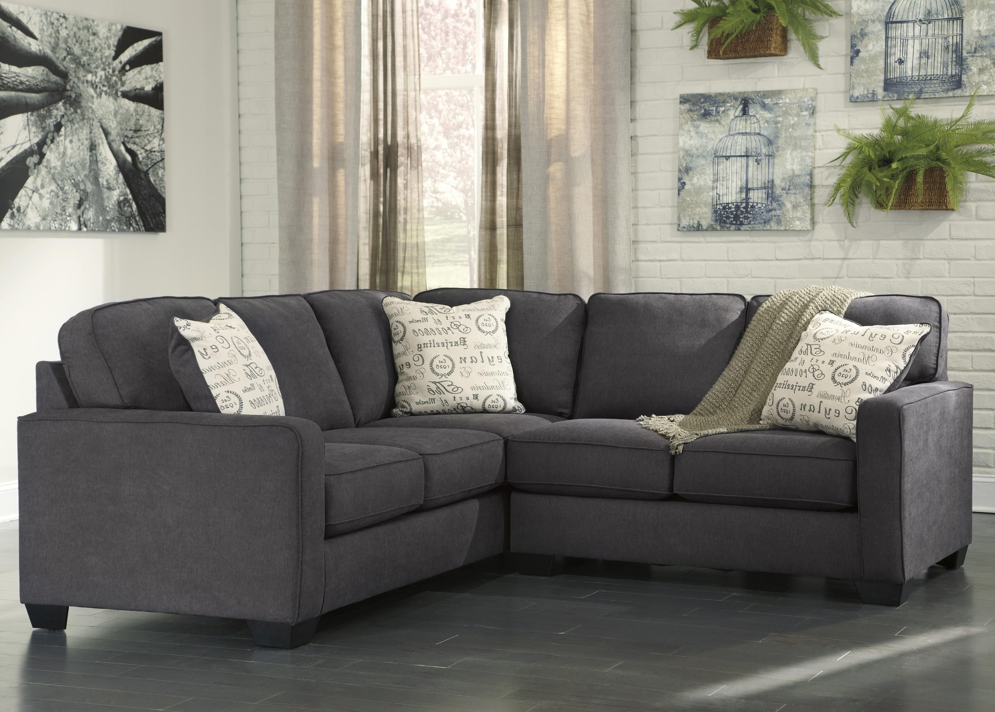 Alenya Charcoal 2 Piece Sectional With Right Loveseat By Signature Design By Ashley 2 Piece Sectional Sofa Sofa Design Sectional Sofa