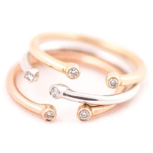 Double Diamond 3/4 Ring