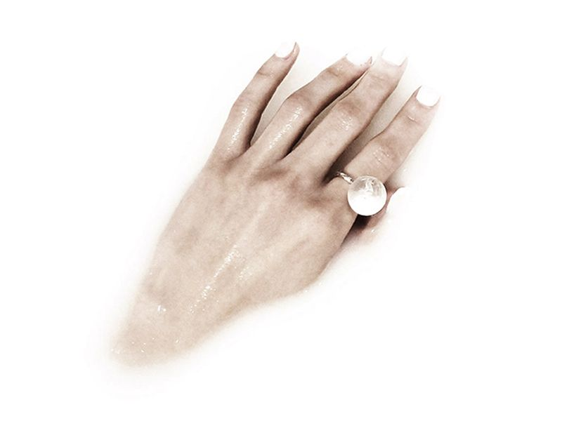 Crystal Orb Ring Silver | Dreams Of Norway | Shop | NOT JUST A LABEL