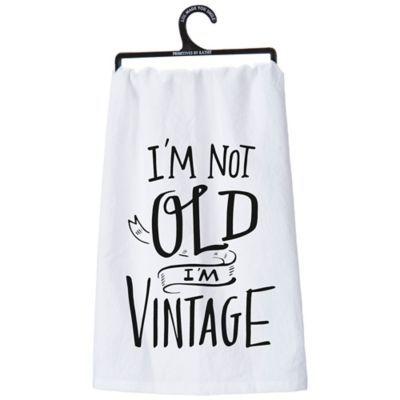 Primitives By Kathy i'm Vintage Kitchen Towel White #handtowels