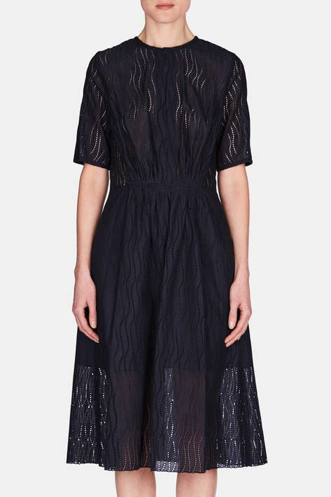 Gabriela Hearst — Clara Dress   Navy — THE LINE