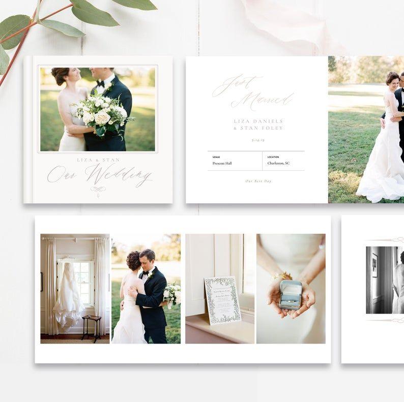 Wedding Album Template 10x10 And 12x12 Wedding Photobook Etsy Wedding Album Templates Wedding Album Wedding Album Layout