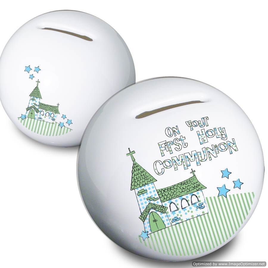 Personal Touch Gifts - Blue First Holy Communion Church Moneybox, £11.99 (http://personaltouchgifts.co.uk/blue-first-holy-communion-church-moneybox/)