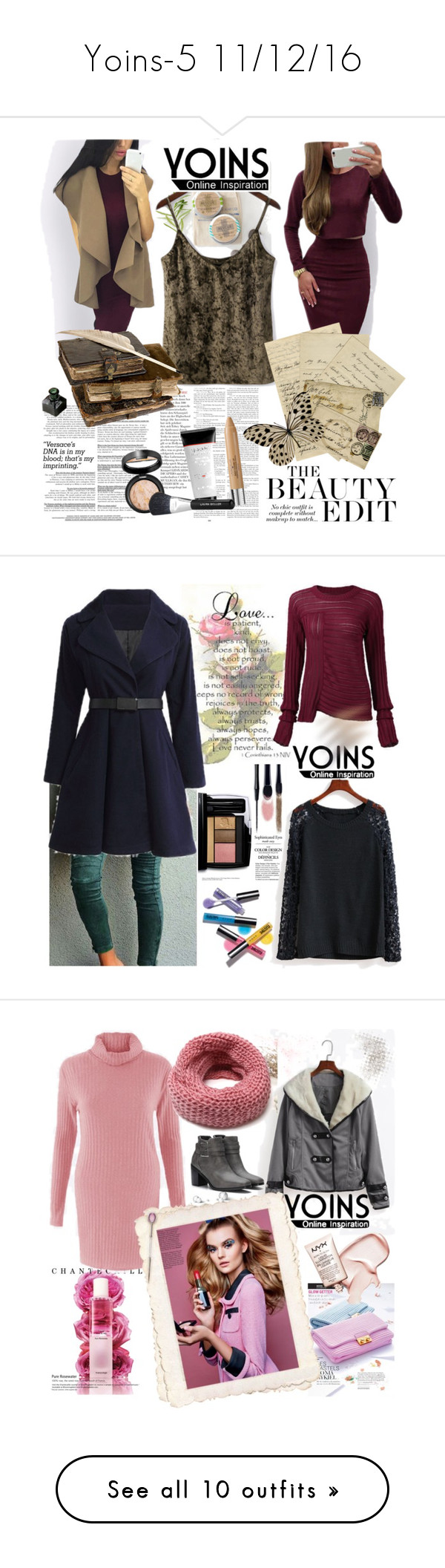 """""""Yoins-5 11/12/16"""" by irinavsl ❤ liked on Polyvore featuring yoins, yoinscollection, loveyoins, Lancôme, Avon, Chantecaille, Korres, Overland Sheepskin Co., Marc Jacobs and WALL"""