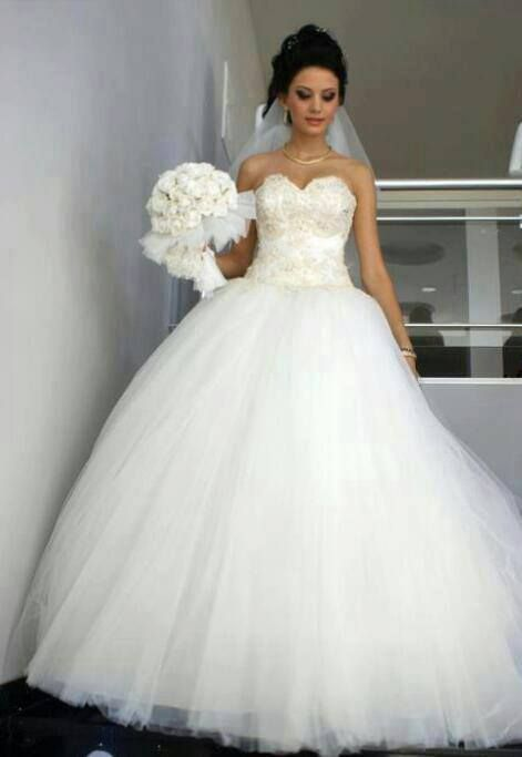 cinderella wedding dresses white beaded top strapless - Google ...