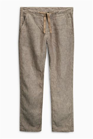 Buy Linen Tailored Fit Trousers from the Next UK online shop
