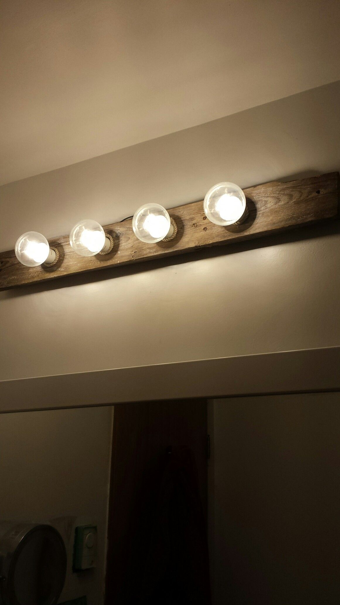 Driftwood Led Lights From Old Hollywood Bathroom Fixture