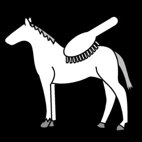 picto paard borstelen paarden pictogram