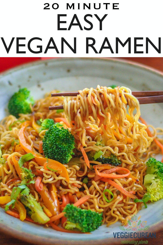 Veggie Ramen Recipe In 2020 Vegan Dinners Veggies Vegan Main