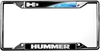 Hummer H3 Chrome License Plate Frame With Images License Plate Frames License Frames License Plate