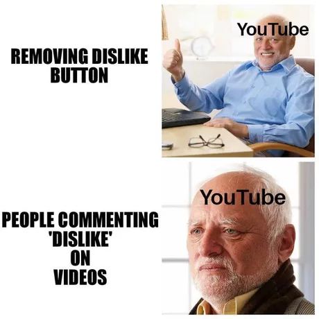 Youtube Dislike Button Best Meme S Everyone Is Going Crazy About This Youtube Dislike Button Here Are The Best Meme S Al Really Funny Edgy Memes Funny Memes