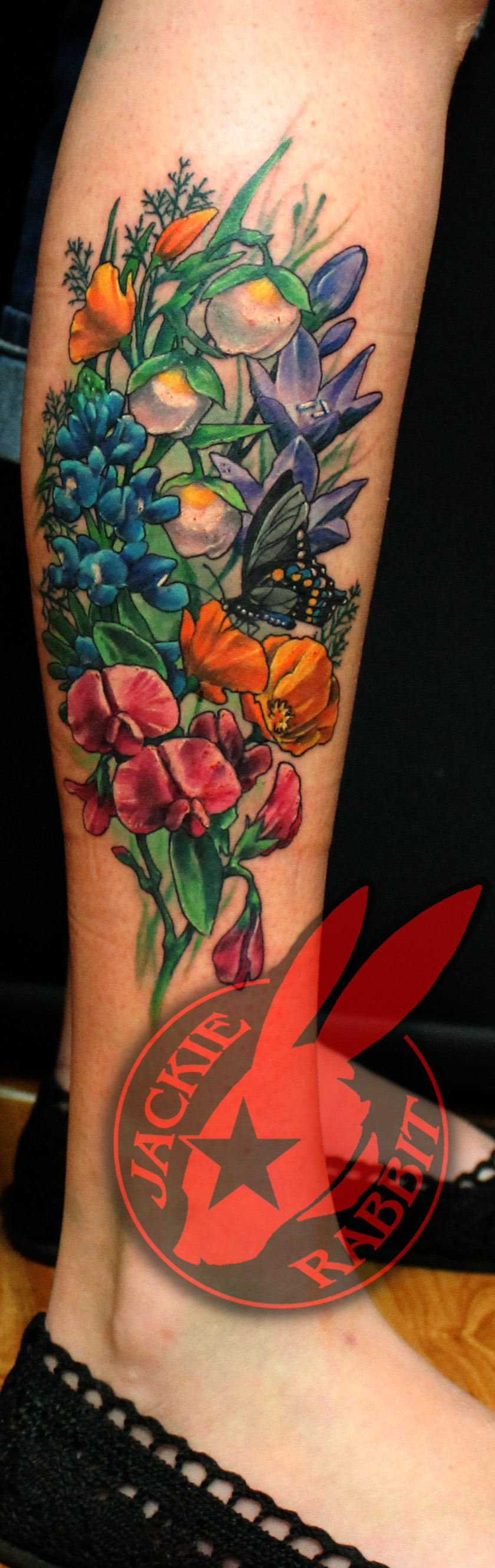 5c3faf52d594e California Wildflowers Tattoo by Jackie Rabbit by jackierabbit12 on ...