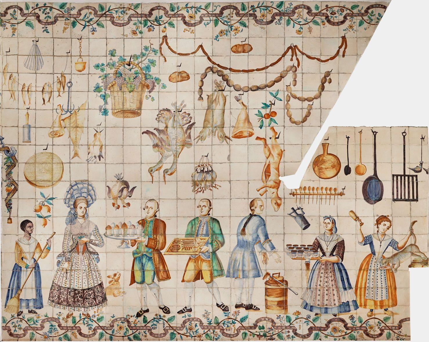 Azulejos cocina valenciana siglo xviii azulejos tiles for Cocina valenciana