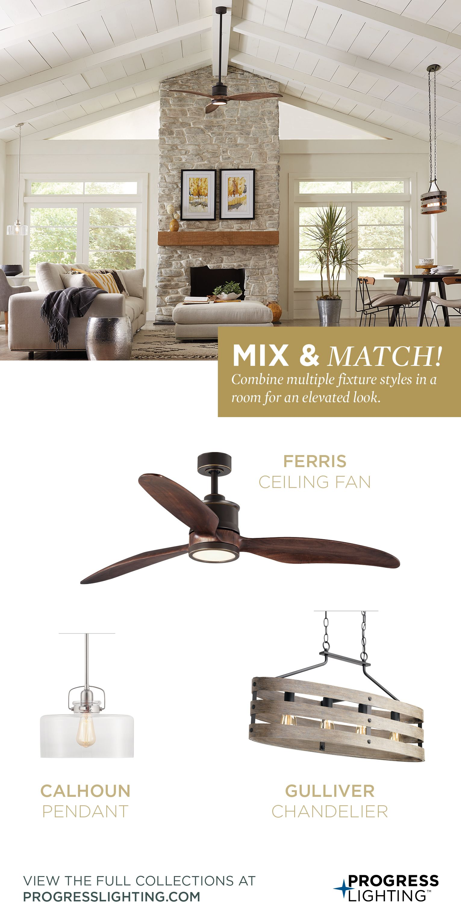 Mix Match Residential Lighting Industrial Farmhouse Exterior Ceiling Fan