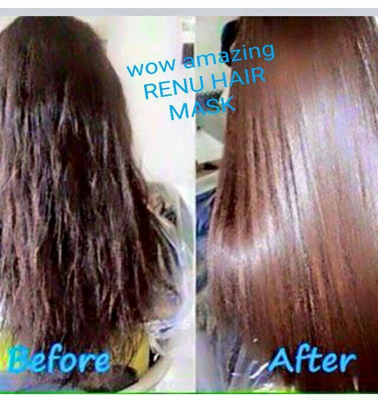 WOW AMAZING RESULTS # RENU HAIR MASK # TODAY'S SPECIAL OFFER 10% OFF RENU HAIR MASK AND GET FREE SAMPLE OF MARINE MUD MASK PM ME TO ORDER OR IF YOU NEED ANYMORE INFORMATION THANK YOU
