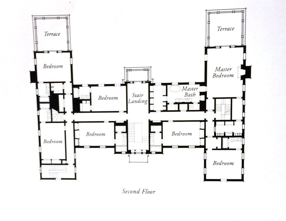 Floor Plan Second Floor Vintage House Plans Floor Plans House Plans