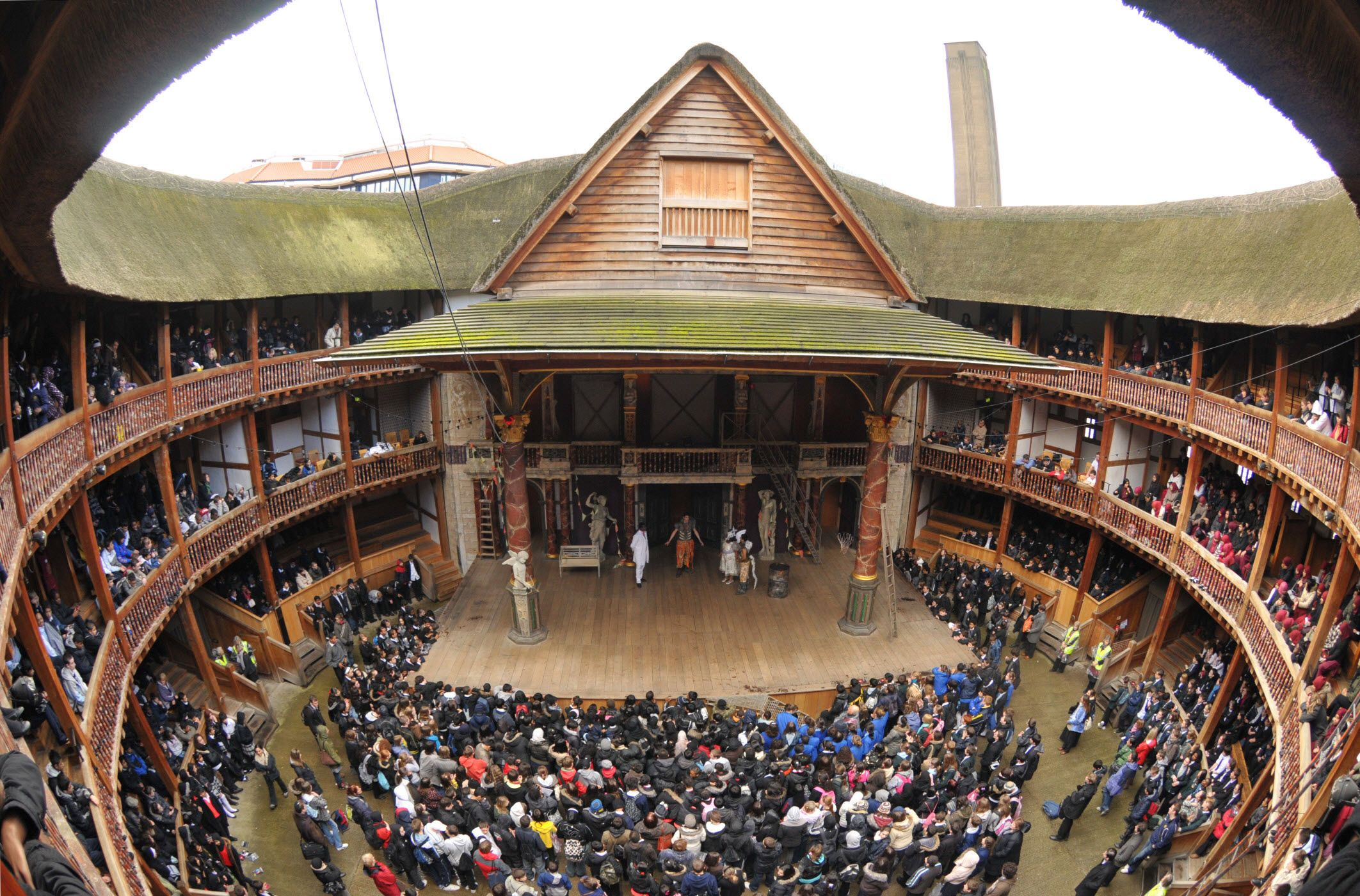 The interior of Shakespeare's Globe Theater. This is the first ...