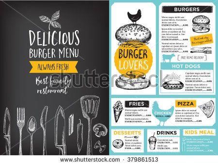Restaurant brochure vector, menu design Vector cafe template with - restarunt brochure