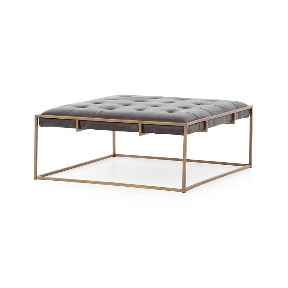 Ottilie Square Leather Coffee Table Reviews Crate And Barrel Canada In 2021 Leather Coffee Table Coffee Table Square Ottoman Table [ 920 x 920 Pixel ]