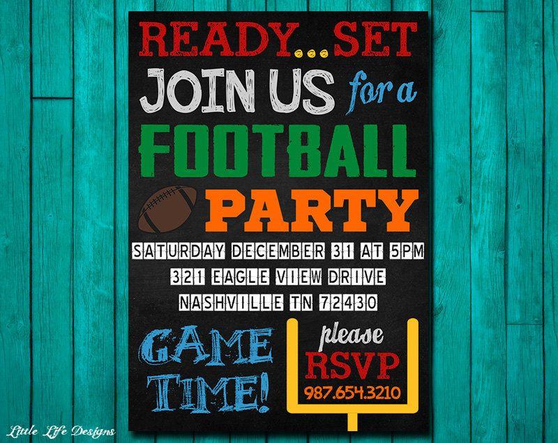 Football Invitation Football Party Invitation Superbowl Party