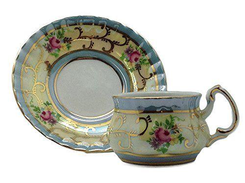 Amazon.com | Victorian Mini Tea Set Gold Cup & Saucer: Drinkware Cups With Saucers: Cup & Saucer Sets