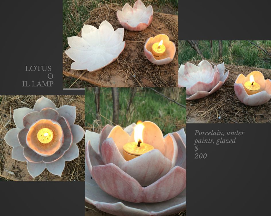 lotus oil lamp