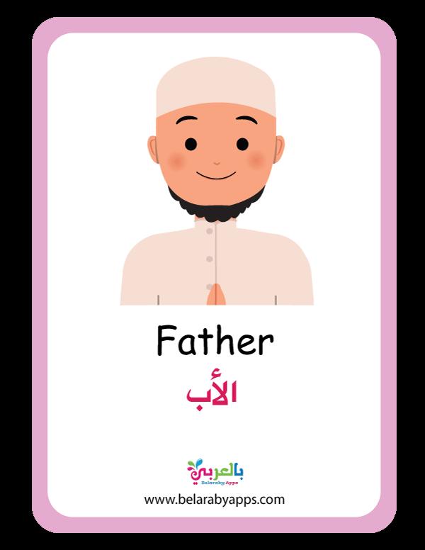 بطاقات تعليم الأطفال أفراد العائلة فلاش كارد عائلتي أسرتي بالعربي نتعلم In 2021 Family Guy Father Character