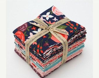 Tula Pink Nightshade COMPLETE 15 Fat Quarter by westwoodacres