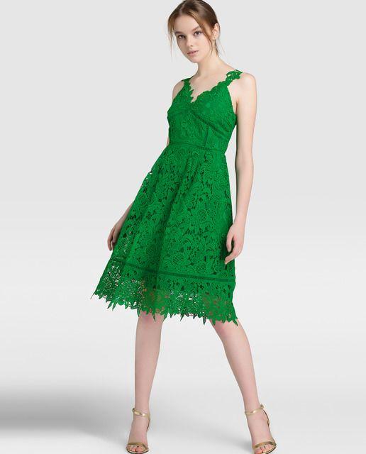 De Fiesta Moda Vestido Guipur Mujer Tintoretto · H4qwdqvzx