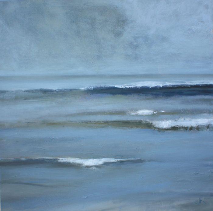 "Claire Kendrick - ""Coastal Tide"" - Oil painting"