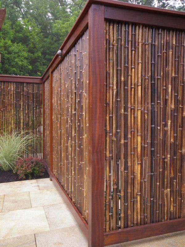 La canisse bambou - une clôture de jardin jolie et écologique ...