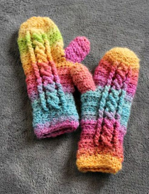 Chilly Cables Mittens Crochet Mitten Drive Mooglys Finds