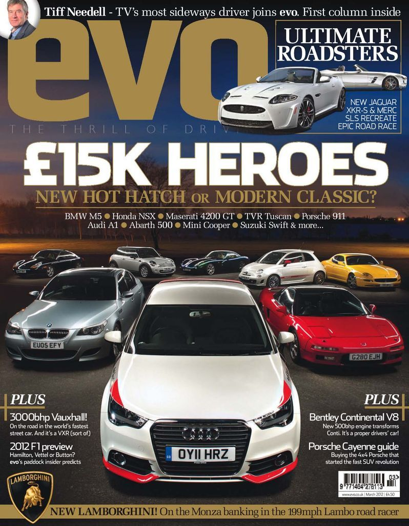 Evo Back Issue March 2012 Digital In 2021 Performance Cars Car Review Hot Hatch