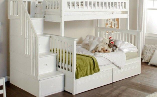 Etagenbett Weiß Für Kinder : Etagenbett für kinderzimmer aus kiefer kids paradise