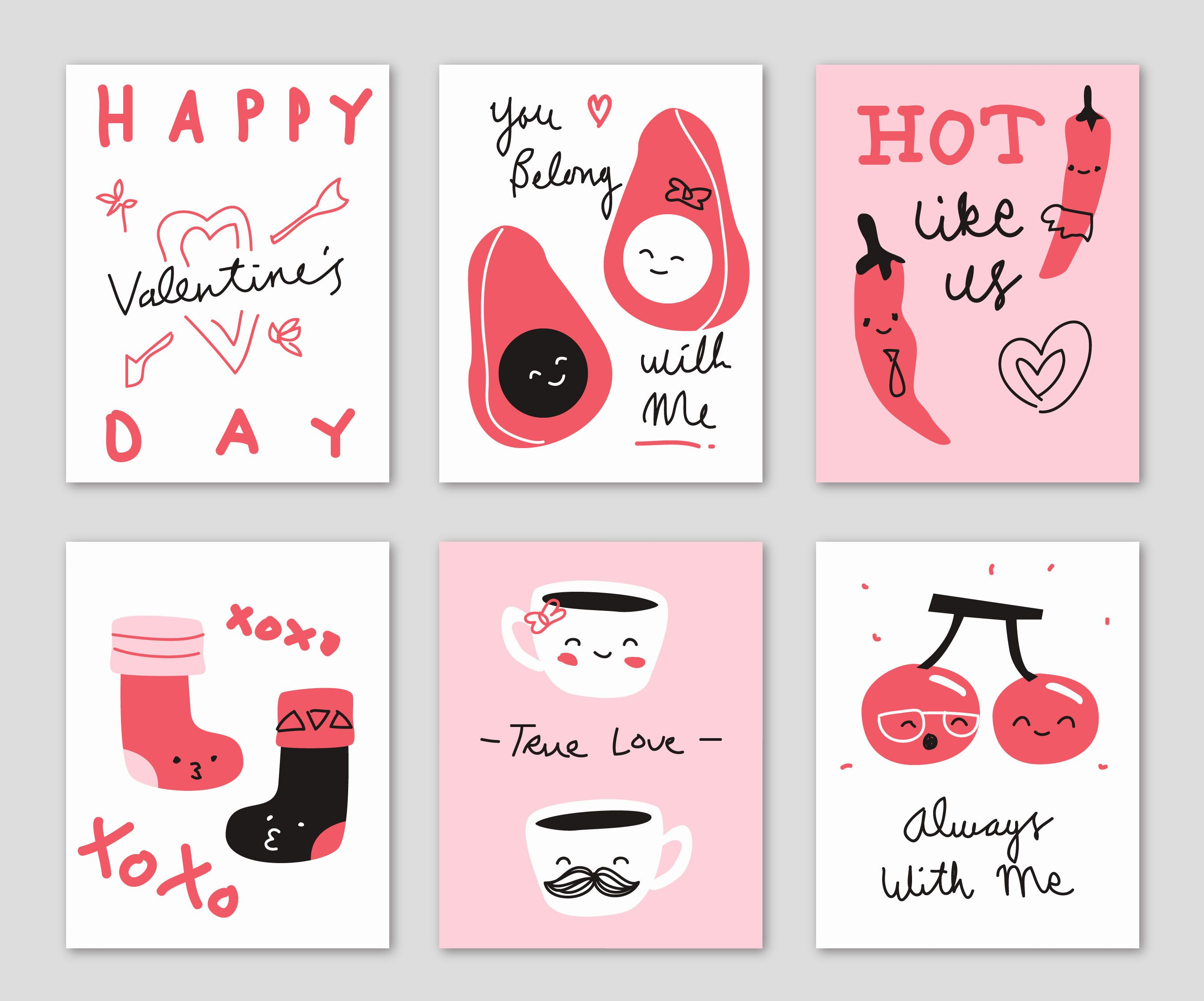 Cute Hand Drawn Doodle Valentine S Day Card Illustration Valentines Card Design Valentines Illustration Valentines Day Drawing